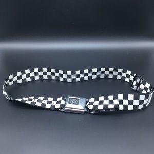 Buckle-down skategoods black/white seatbelt belt